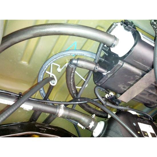 Jeep JK Cat-Back Hi-Clearance Quiet Muffler/Evap Can Relocation System 2012+ 4-Door