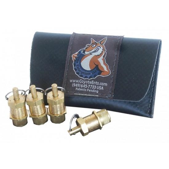 Coyote Enterprises 3 - 50 psi Tire Deflators (Set of Four)