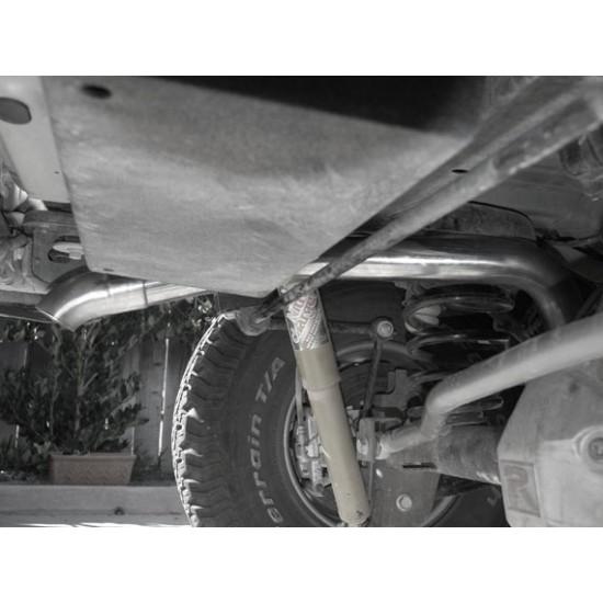 Jeep JK Cat-Back Hi-Clearance Quiet Muffler Relocation System 2007 - 11